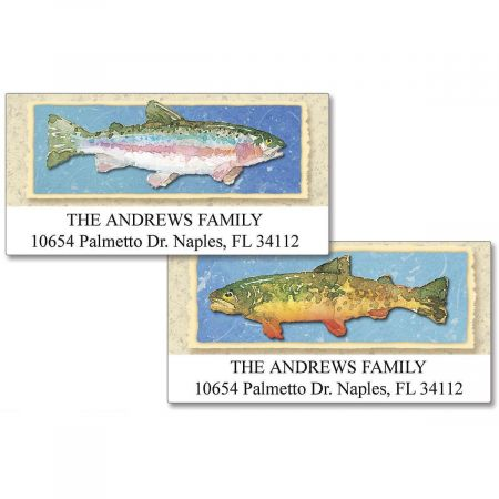 Lake Trout  Deluxe Return Address Labels  (2 Designs)