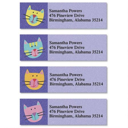 Fun Cats Classic Return Address Labels  (4 Designs)