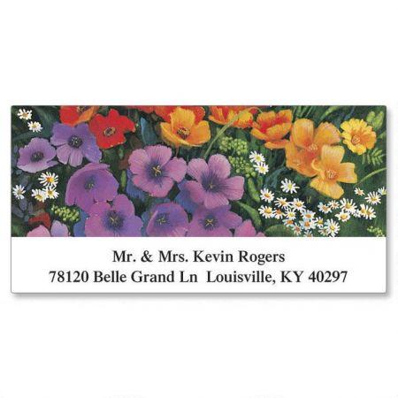 Rich Florals Deluxe Return Address Labels  (6 Designs)