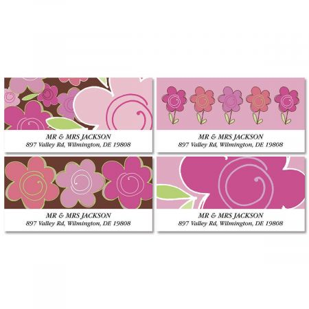Shades of Pink Deluxe Return Address Labels  (4 Designs)