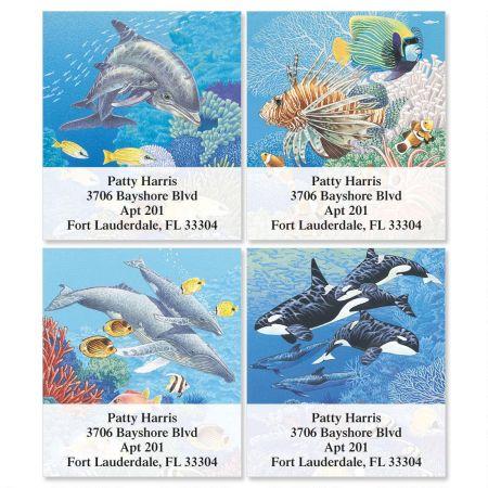 Sea Life Select Return Address Labels   (4 Designs)