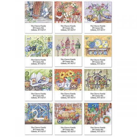 Yearlong Pleasures Select Return Address Labels  (12 Designs)