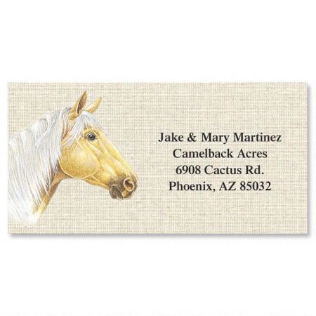 Happy Horses Border Return Address Labels  (6 Designs)