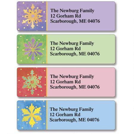 Watercolor Snowflake Classic Return Address Labels   (4 Designs)