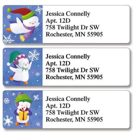 Christmas Penguins Classic Address Labels  (3 Designs)