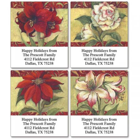Poinsettia  Select Return Address Labels (4 Designs)
