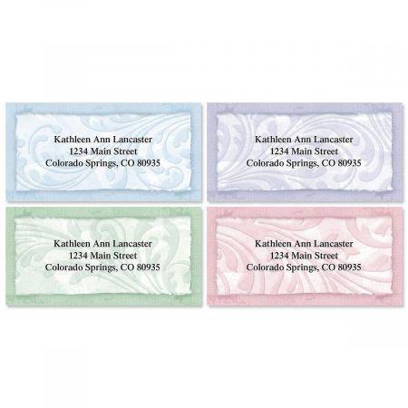 Scroll Border Return Address Labels  (4 Designs)