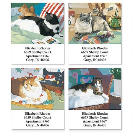 Afternoon Cats  Select Return Address Labels  (4 Designs)
