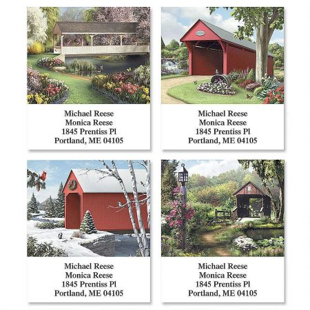 Covered Bridges Select Return Address Labels   (4 Designs)