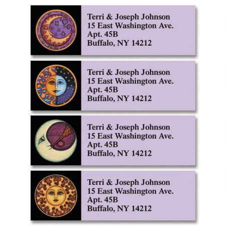 Sun & Moon Classic Return Address Labels  (4 Designs)