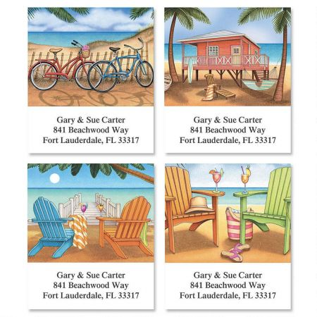Bahama Breeze  Select Return Address Labels  (4 Designs)