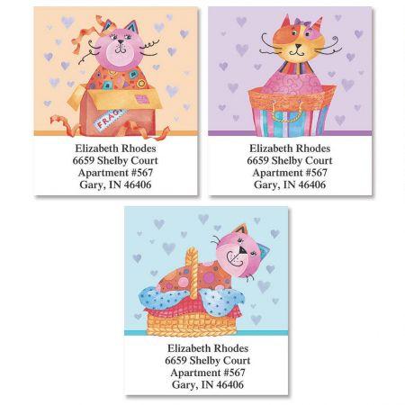 Cat Packages Select Return Address Labels  (3 Designs)