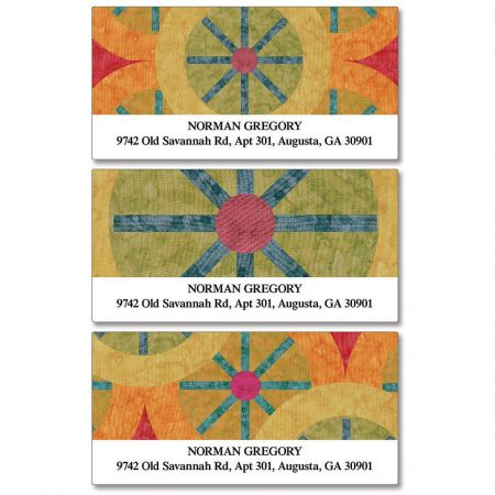 Geometric  Deluxe Return Address Labels  (3 Designs)