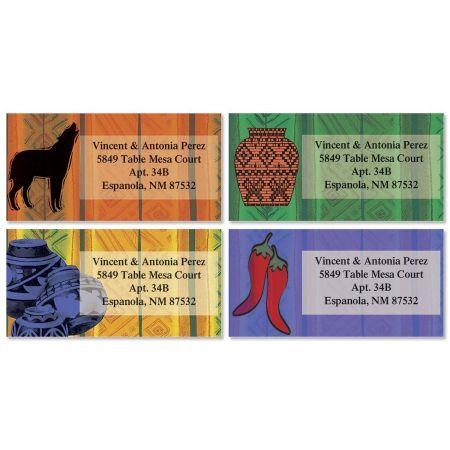 Southwest Border Return Address Labels  (4 designs)