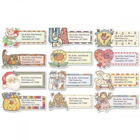 Everything Happy Diecut Return Address Labels  (12 Designs)