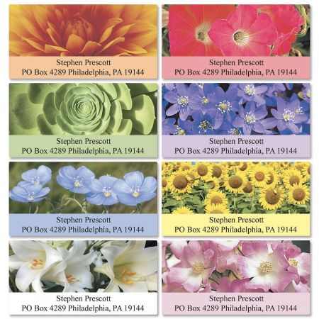 Nature's Colors  Deluxe Return Address Labels  (8 Designs)