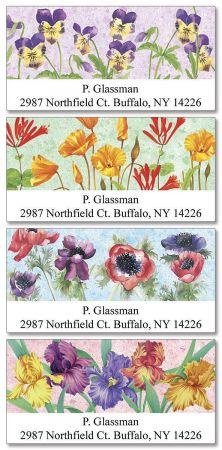Dancing Gardens  Deluxe Address Label  (4 Designs)