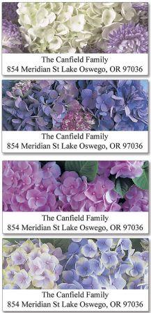 Hydrangea Deluxe Return Address Labels  (4 Designs)