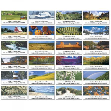 Four Seasons Deluxe Address Labels  (24 Designs)