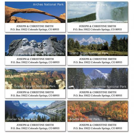 Our National Parks Deluxe Return Address Labels  (8 Designs)