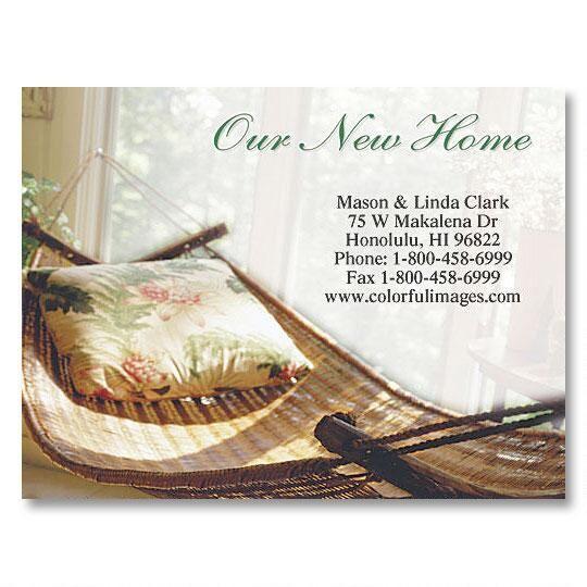 Relax New Address Postcards