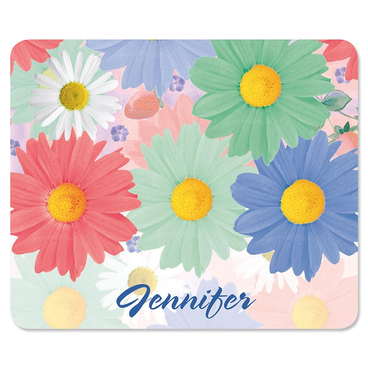 Gerber Daisies  Personalized Mousepad