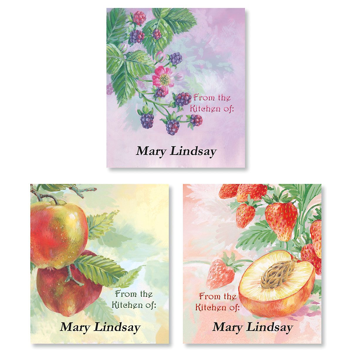 Fruit Impressions Canning Labels - Small