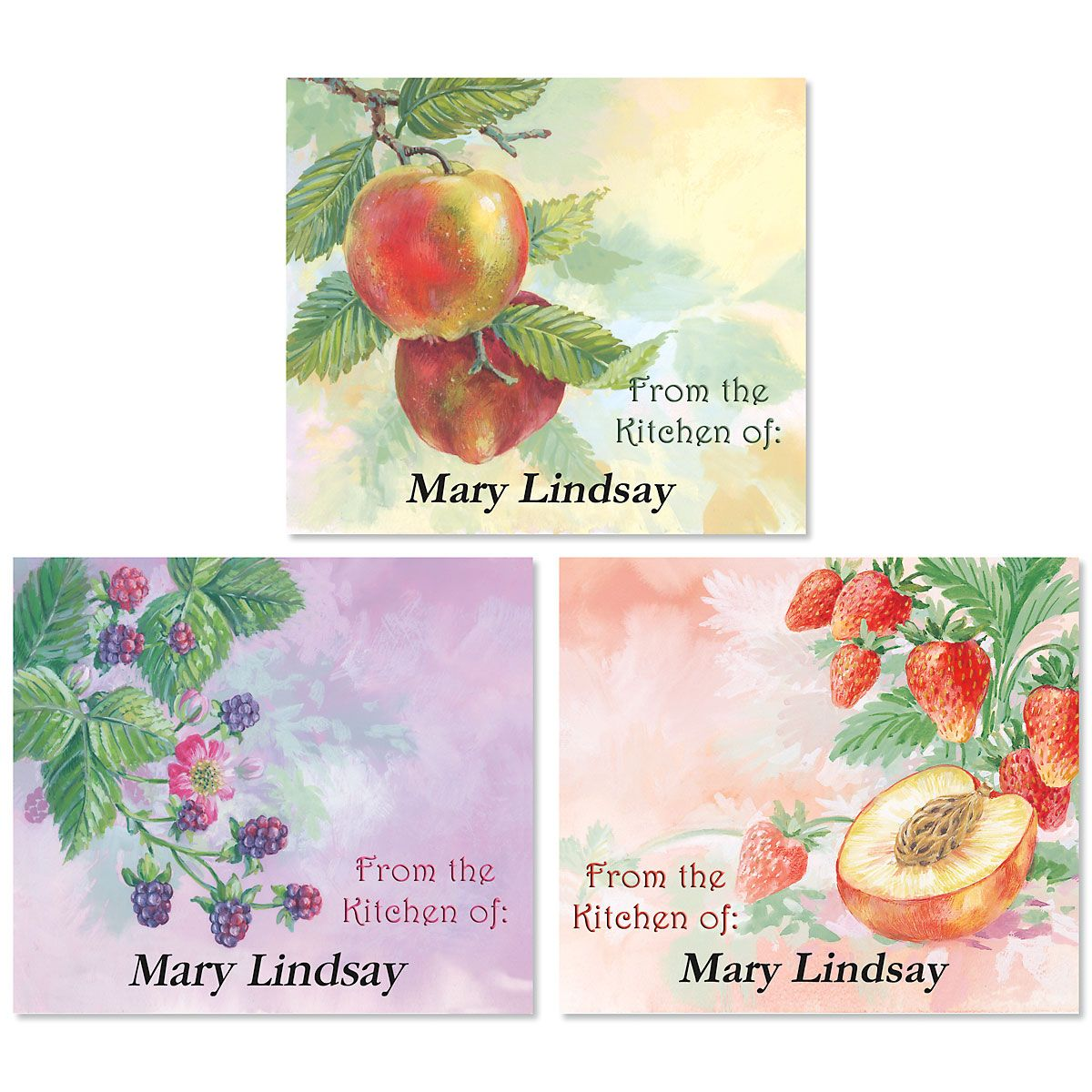 Fruit Impressions Canning Labels