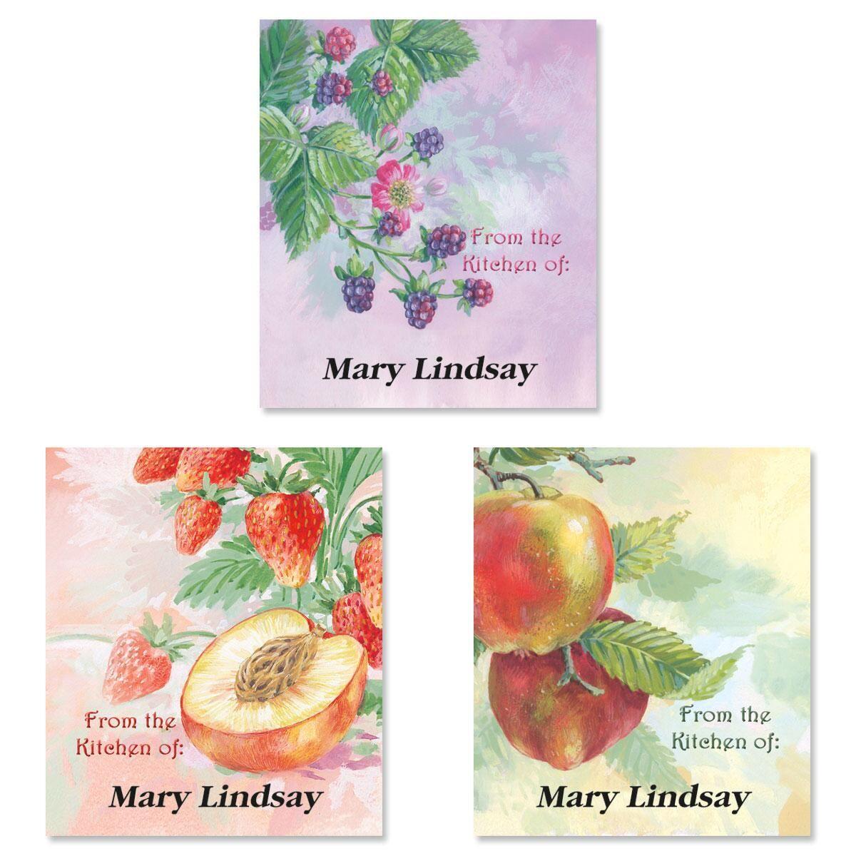 Fruit Impressions Canning Labels - Large