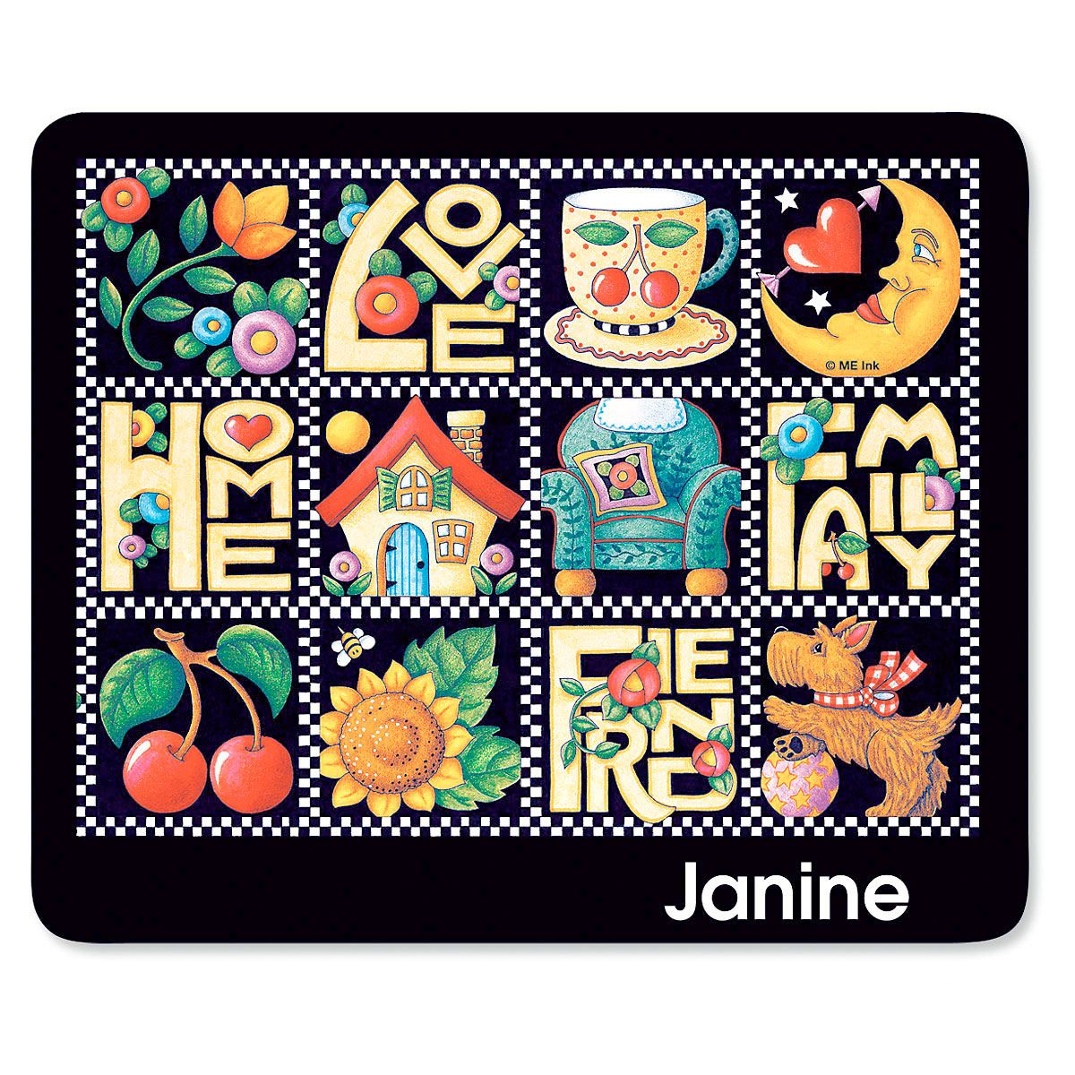 Love, Home, Family, Friends Mousepad