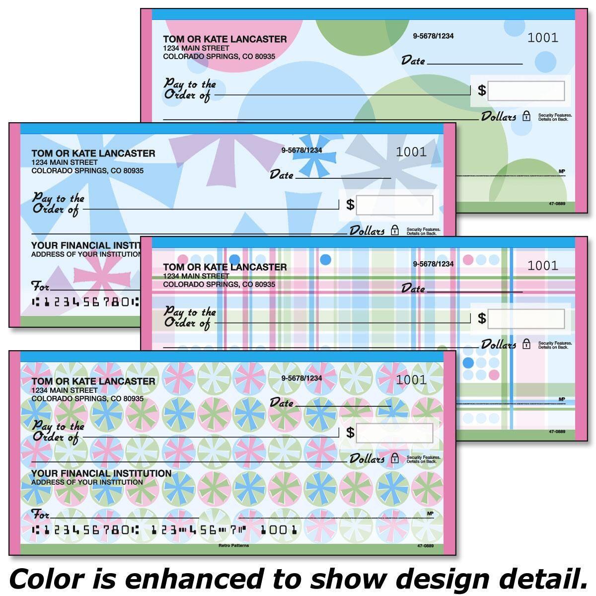 Retro Patterns Personal Checks