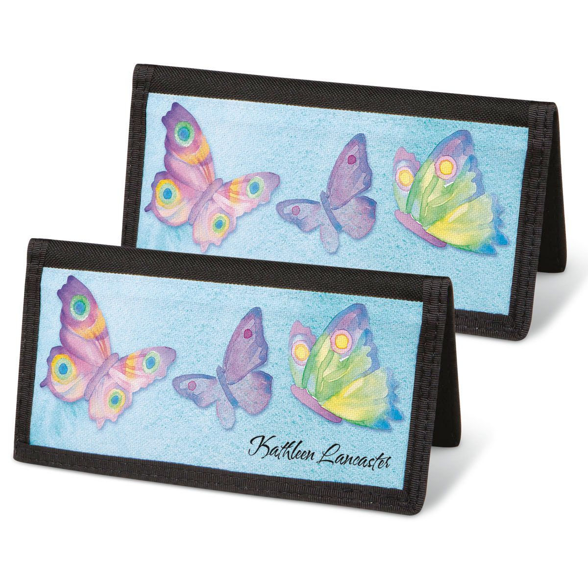 Watercolor Wings  Checkbook Covers