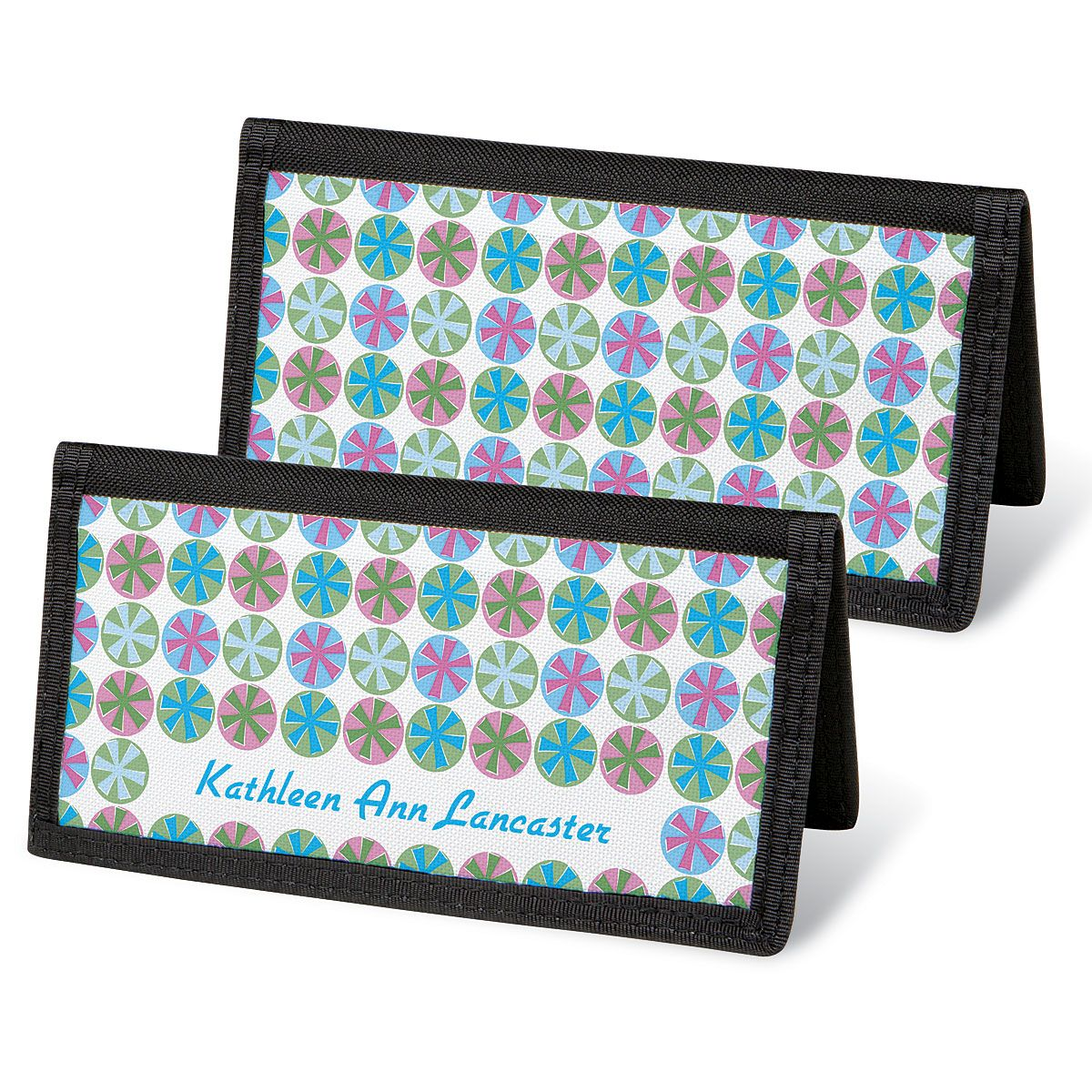 Retro Patterns Personal Checkbook Covers