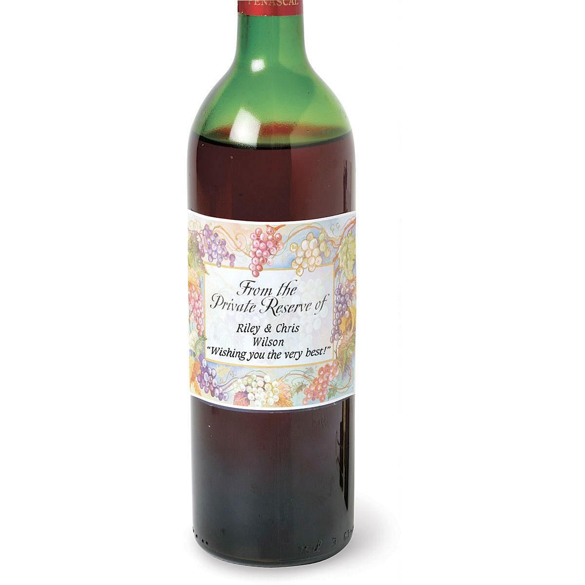 Bacchus Personalized Wine Labels