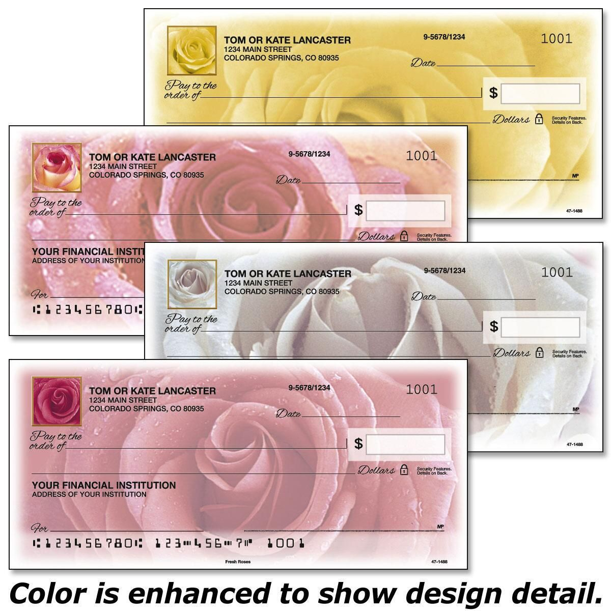 Fresh Roses Personal Checks