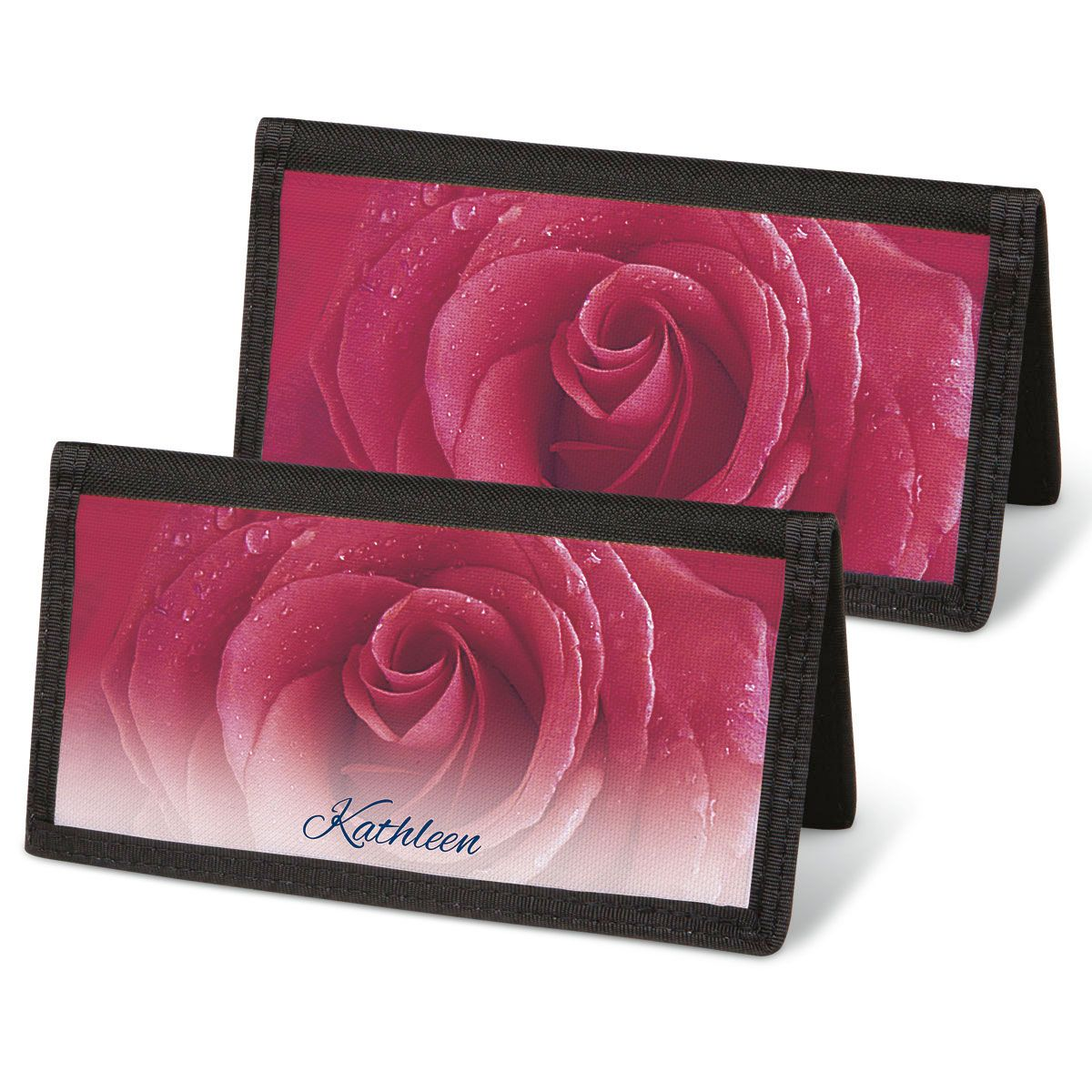 Fresh Roses Personal Checkbook Covers