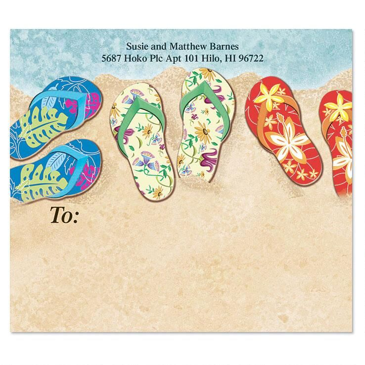 Baja Flip-Flops Package Labels