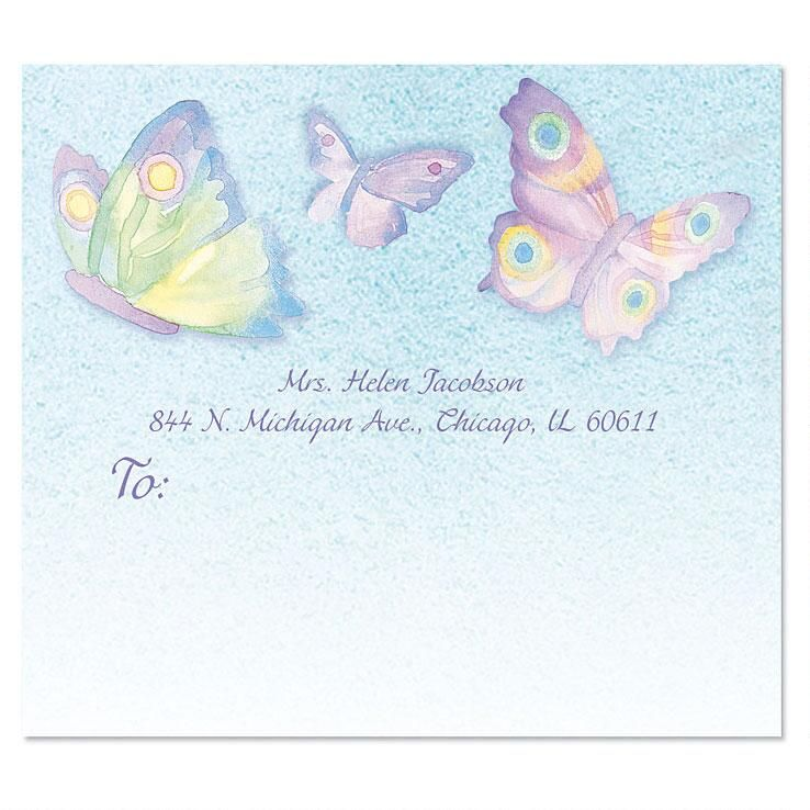Watercolor Wings Package Labels