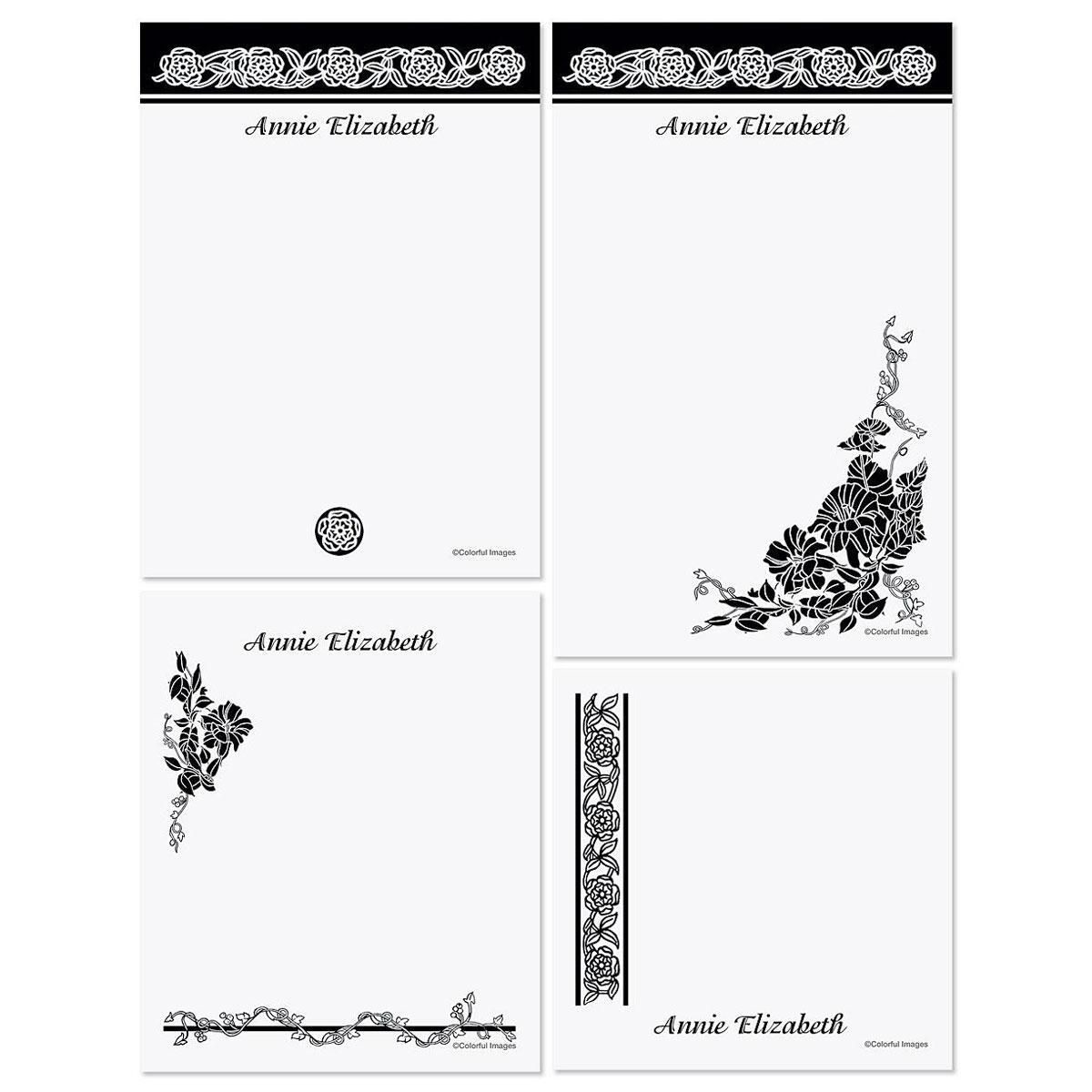Black Amp White Memo Pad Sets Colorful Images