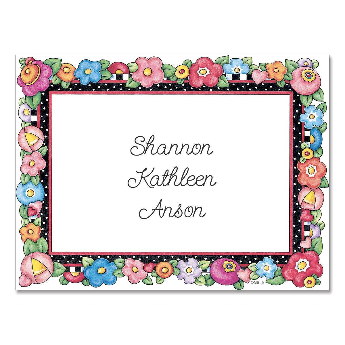 Bright Blossoms  Personalized Note Cards
