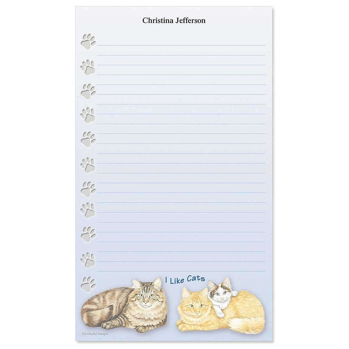 I Like Cats Custom Memo Pads