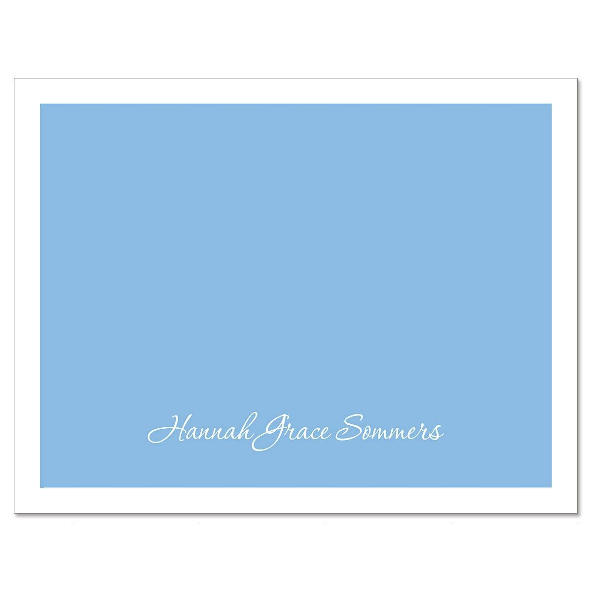 Blue & White  Custom Note Cards