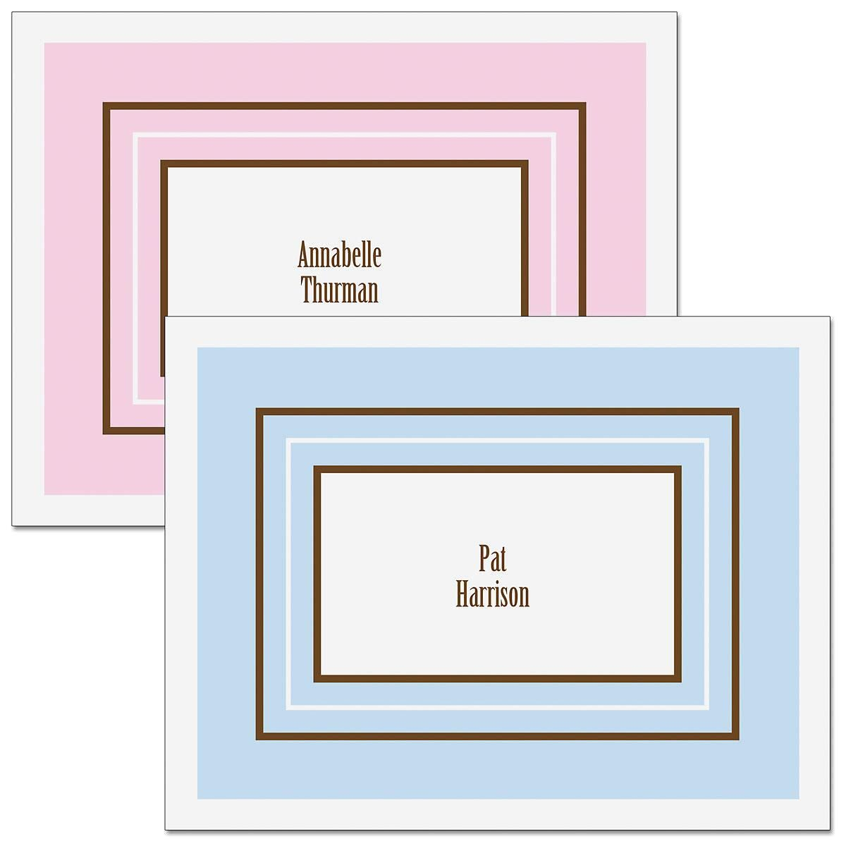 Elegant Frame  Personalized   Note Cards