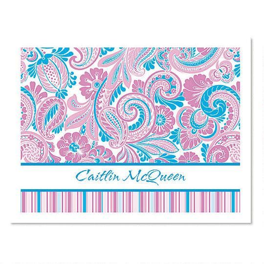 Paisley  Personalized Note Cards
