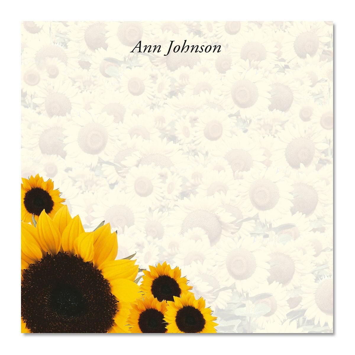 Sunflowers Galore Note Cube  Refill