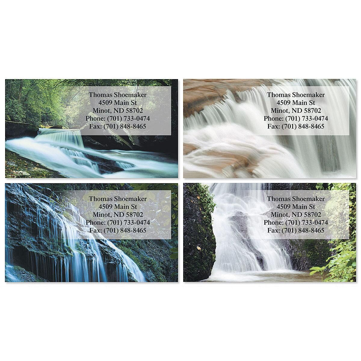 Waterfalls Business Cards  (4 Designs)