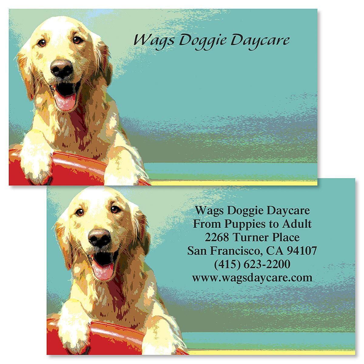 Dog Faces  Double-Sided Business Cards  (3 Designs)