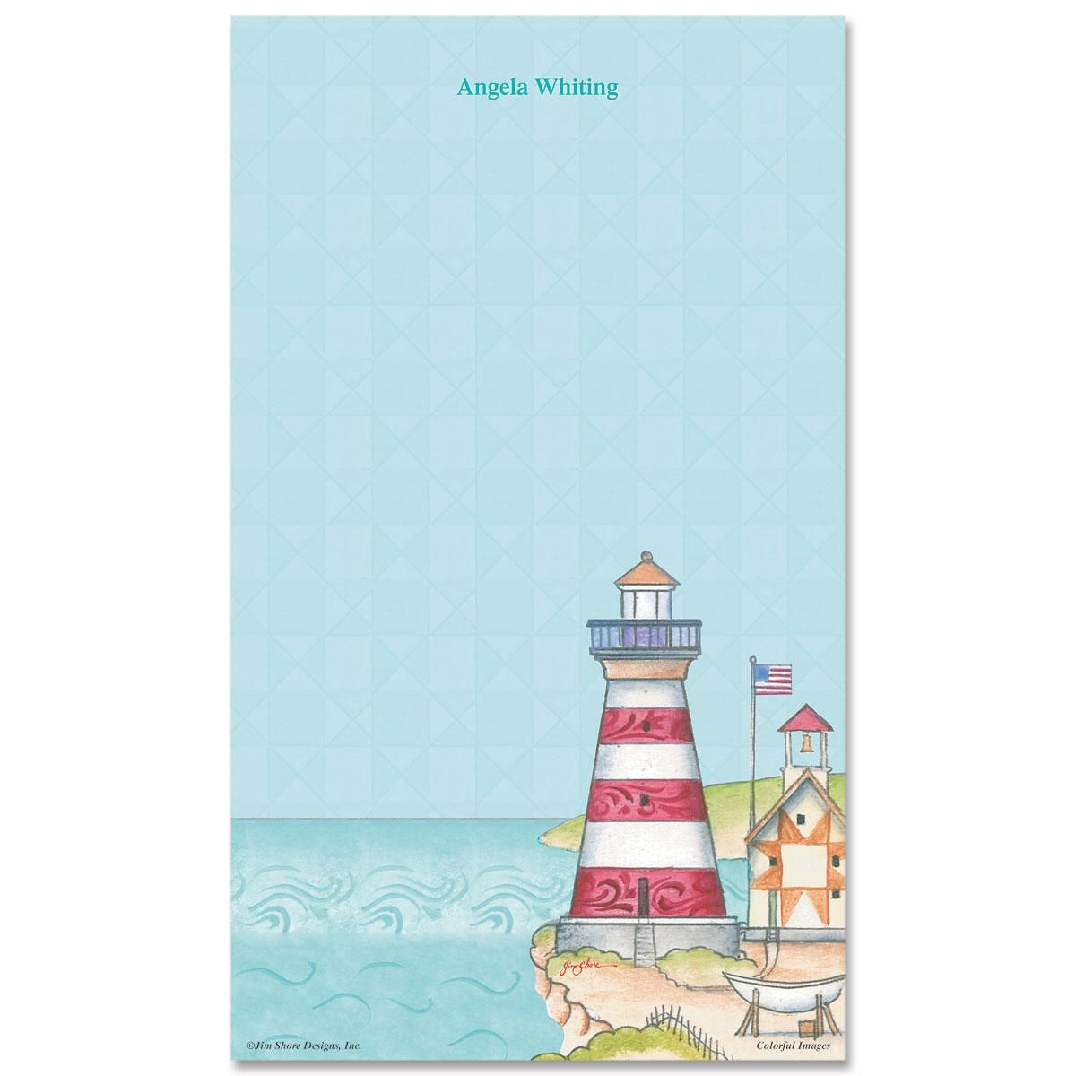 Lighthouse Notepad by Jim Shore