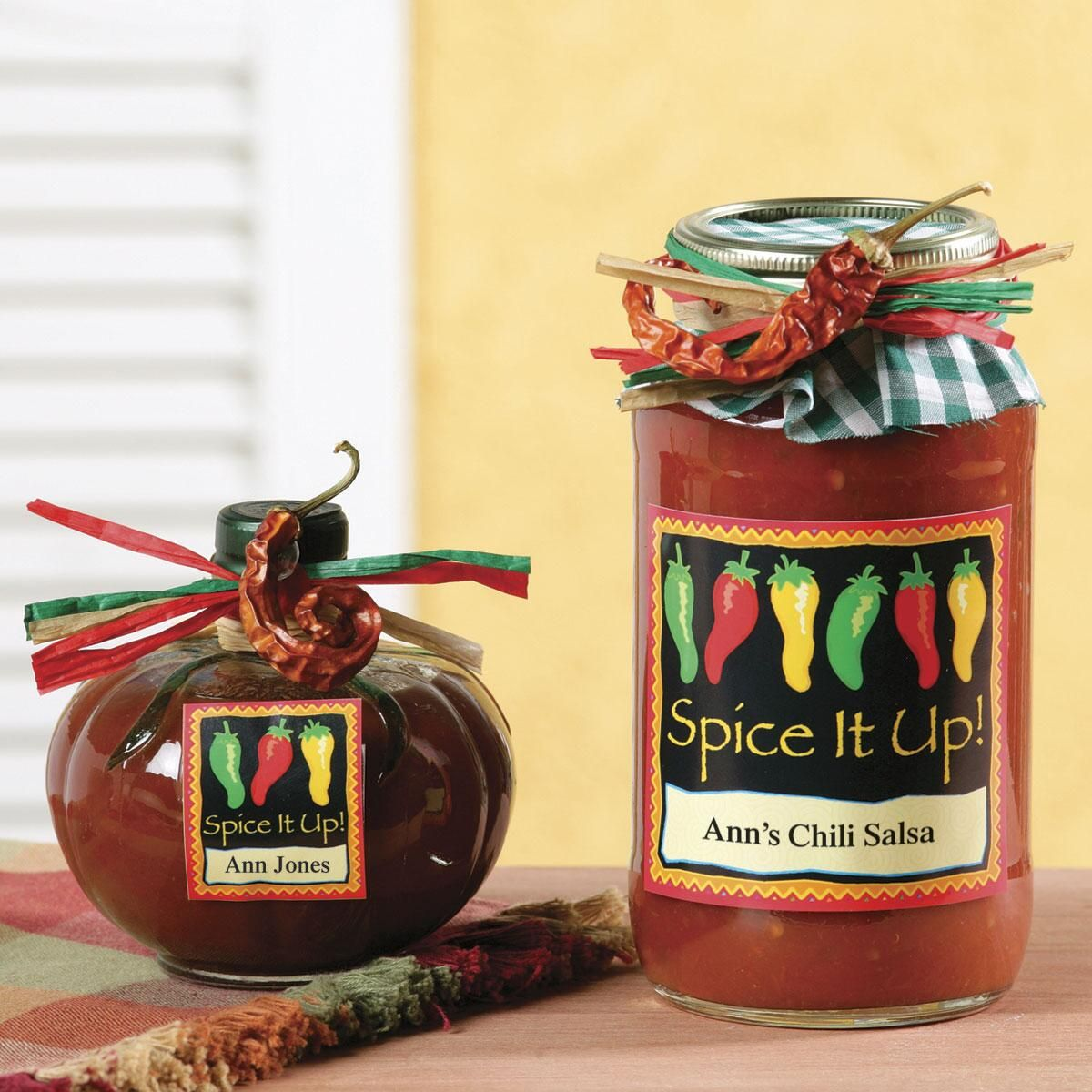 Chili Peppers Canning Labels - Large