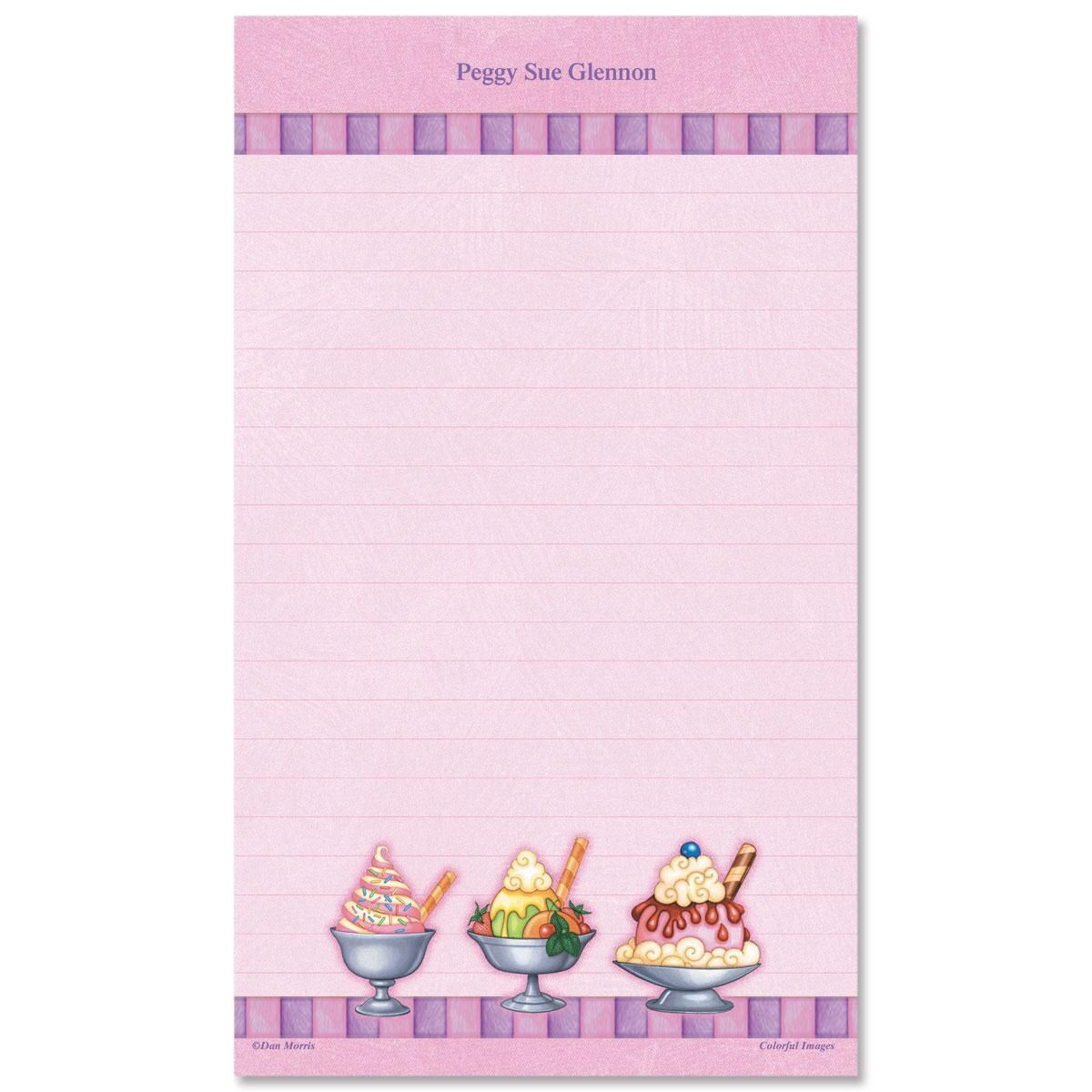 Ice Cream Custom Memo Pads